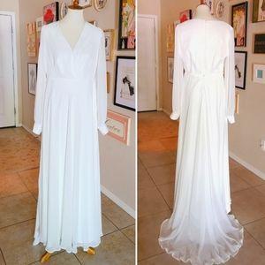 Vintage - 1980's Vintage White Wedding Gown
